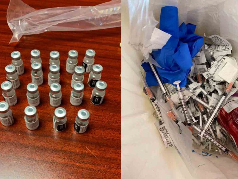 Las supuestas vacunas Pfizer que se encontraron en Ciudad Juárez