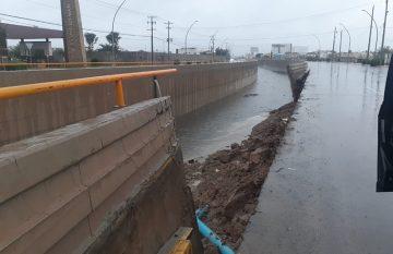 Colapsa barda del dren 2A por la lluvia
