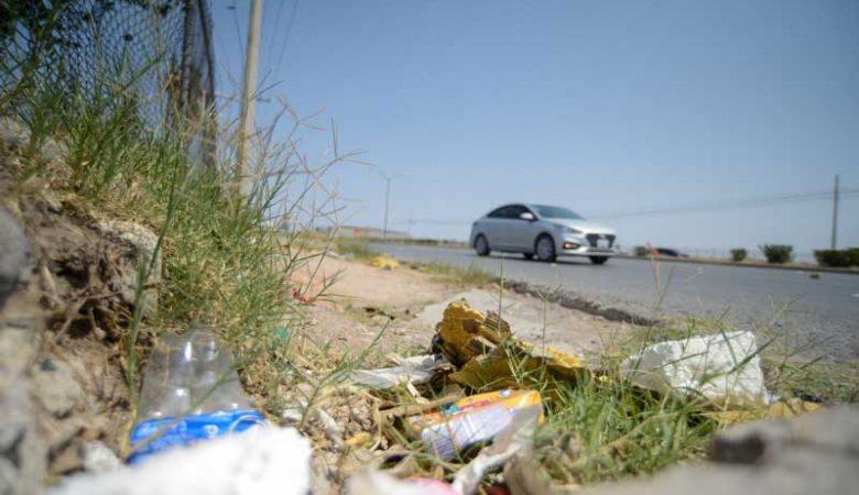 La entrada de Juárez está sucia