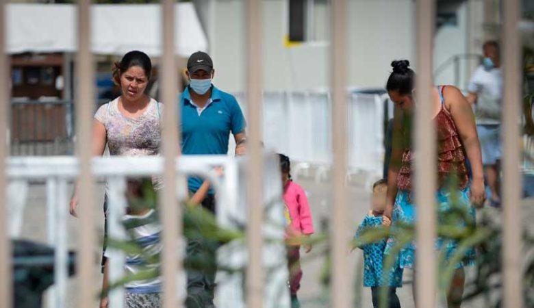 migrantes en albergue Leona Vicario